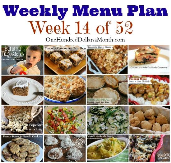 Weekly Meal Plan , Menu Plan Ideas