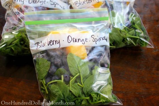 blueberry orange spinach smoothies