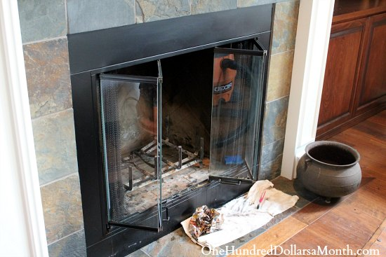 how to clean woodstove glass with ashes