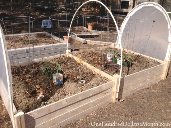 making a hoop house