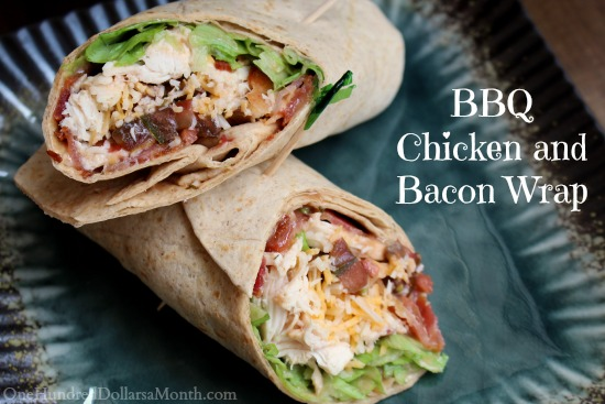 bbq chicken and bacon wrap