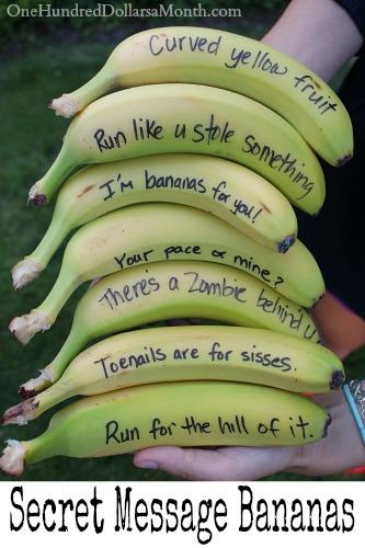 Secret Message Bananas