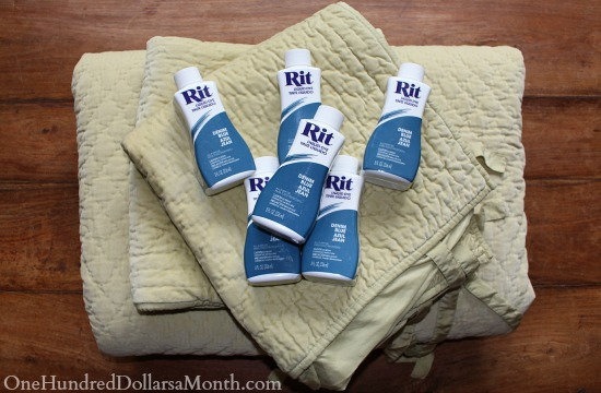 dyeing a comforter with rit liquid dyd