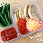 Bento Box Idea – English Muffin Pizzas with Pepperoni Slices and Cheese
