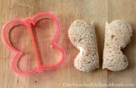 butterfly sandwich cutter mold