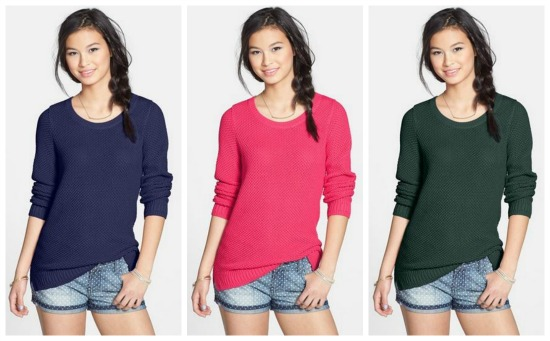 Textured Cotton Crewneck Sweater