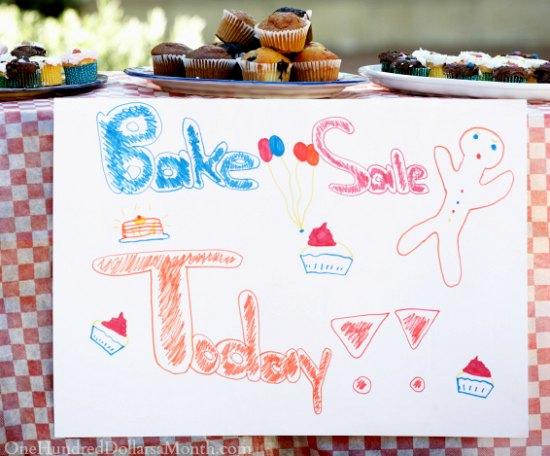 bake sale sign