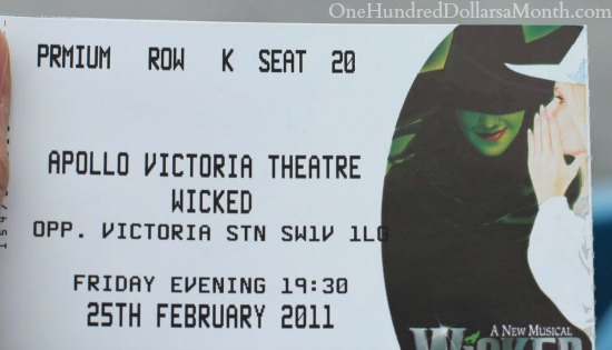 wicked ticket london