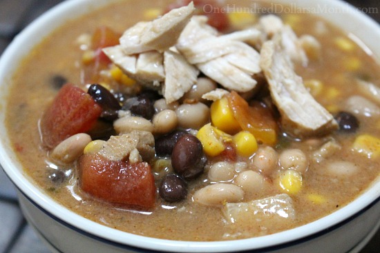Easy 8 Can Chicken Taco Soup