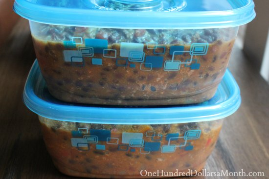Freezer Meal - Black Bean and Pumpkin Chili