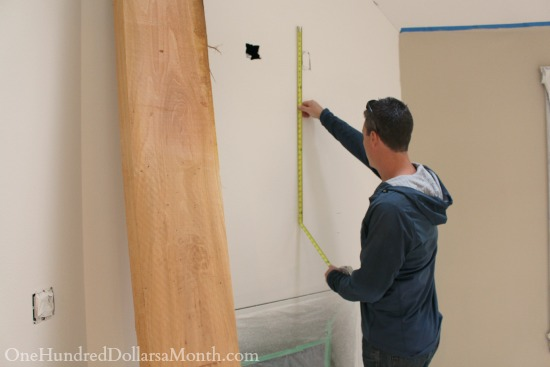 measuring for a fireplace mantel