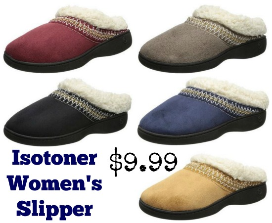 Isotoner  Microsuede Sherpasoft Hoodback Slipper