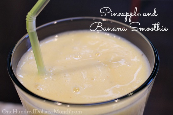 Pineapple and Banana Smoothie