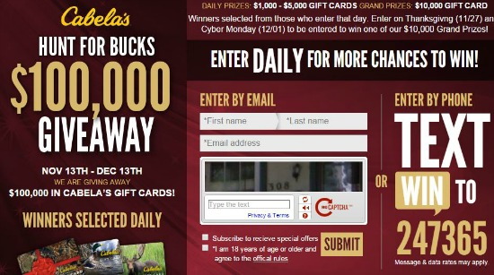 cabelas sweepstakes