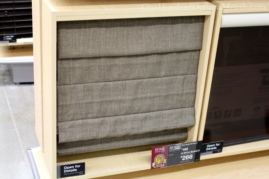 roman shades from the home depot