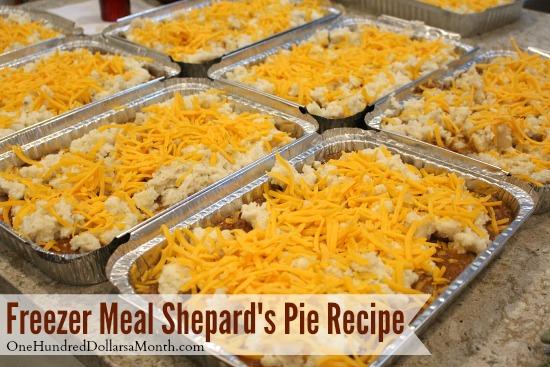Freezer Meal Shepards Pie Recipe