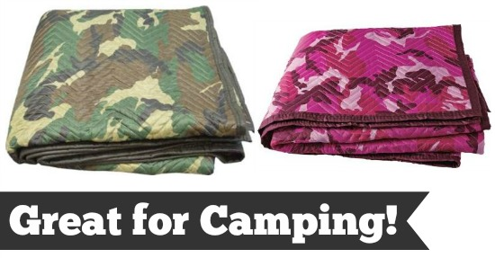 camo moving blankets