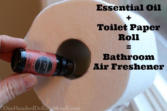 Easy Houshold Tip Essential Oil Toilet Paper Roll Bathroom Air Freshener