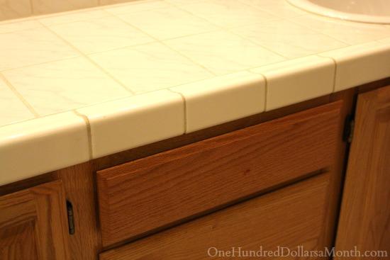 old bathroom chunky white tile