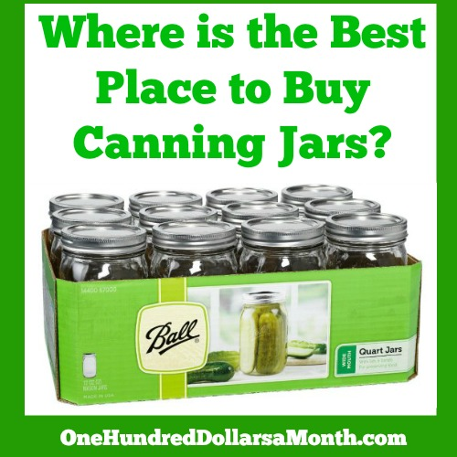 Where is the Best Place to Buy Canning Jars