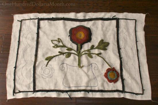 primitive rug hooking