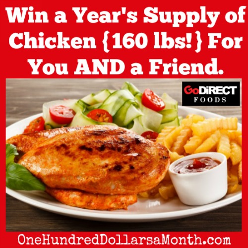 wind a years supply of chicken