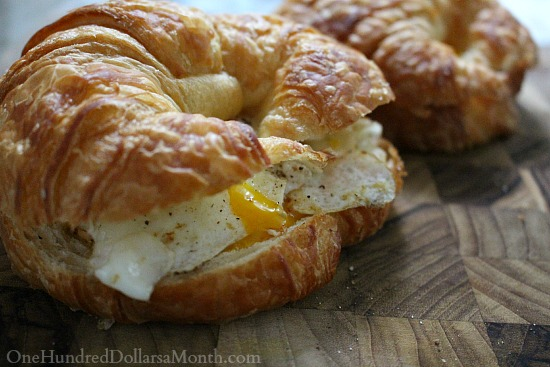 egg and cheese croissant