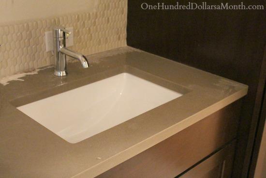 quartz master bathroom remodel