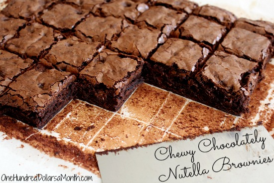 Chewy-Chocolately-Nutella-Brownies