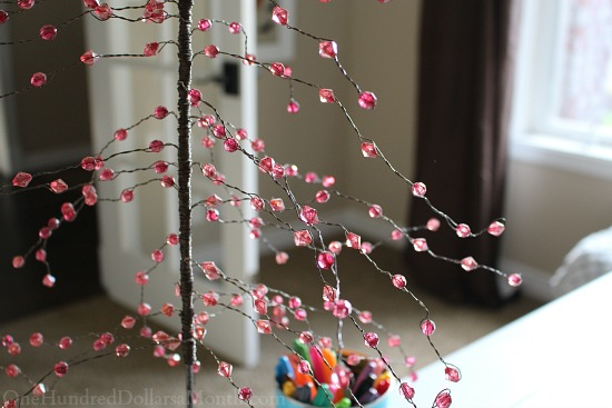 pink wire tree