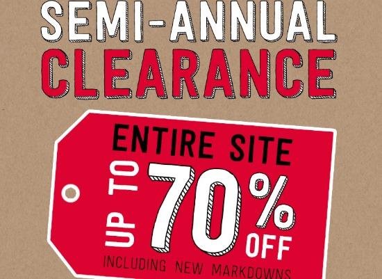 semi annual sale crazy 8