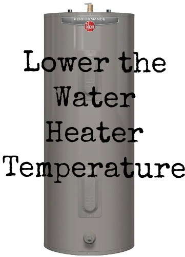 lower water heater temperature