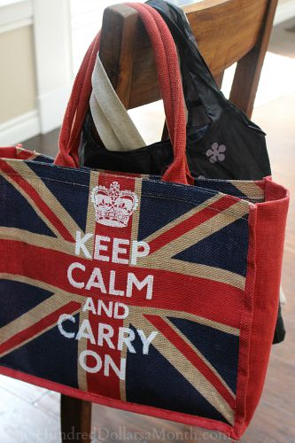 shopping bags keep calm and carry on