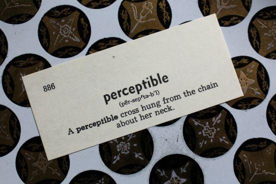perceptible