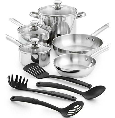 Tools of the Trade Stainless Steel 12-Pc. Cookware Set