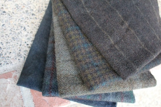 black wool for rug hooking