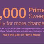 $25,000 Amazon Prime Music Sweepstakes