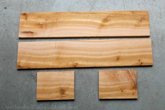 cut boards fro cedar window box