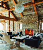 Rustic-modern ski house in Big Sky