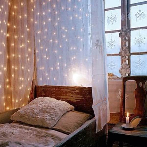 inspiring ideas christmas lights in bedroom