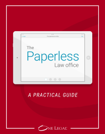 Practical guide to implementing a paperless law office