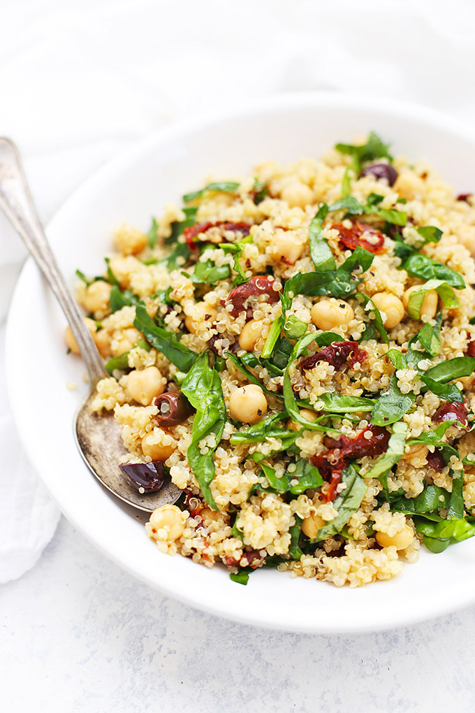 Sun Dried Tomato Quinoa Salad (Gluten Free  Vegan) \u2022 One Lovely Life