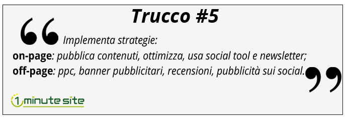 strategie web per aumentare traffico