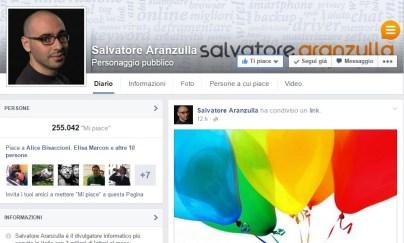 Salvatore Aranzulla - profilo di Facebook