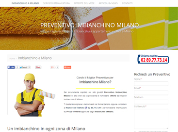 grafica sito web imbianchino