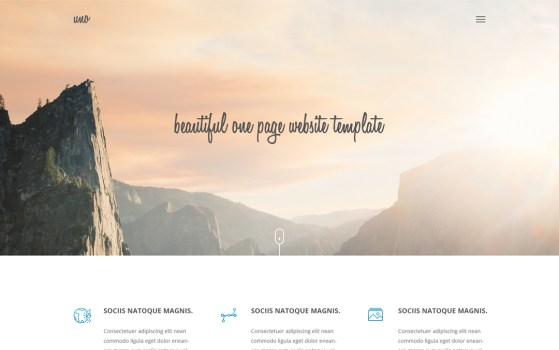 uno page website template