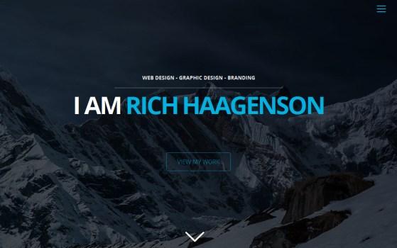 Rich Haagenson Single Page Portfolio