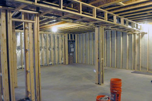 Basement Remodel, Day 3: Electric Rough-In - One Project Closer