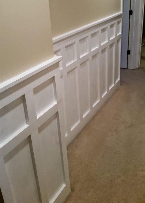 How To Install Board And Batten Wainscoting (White Painted Square