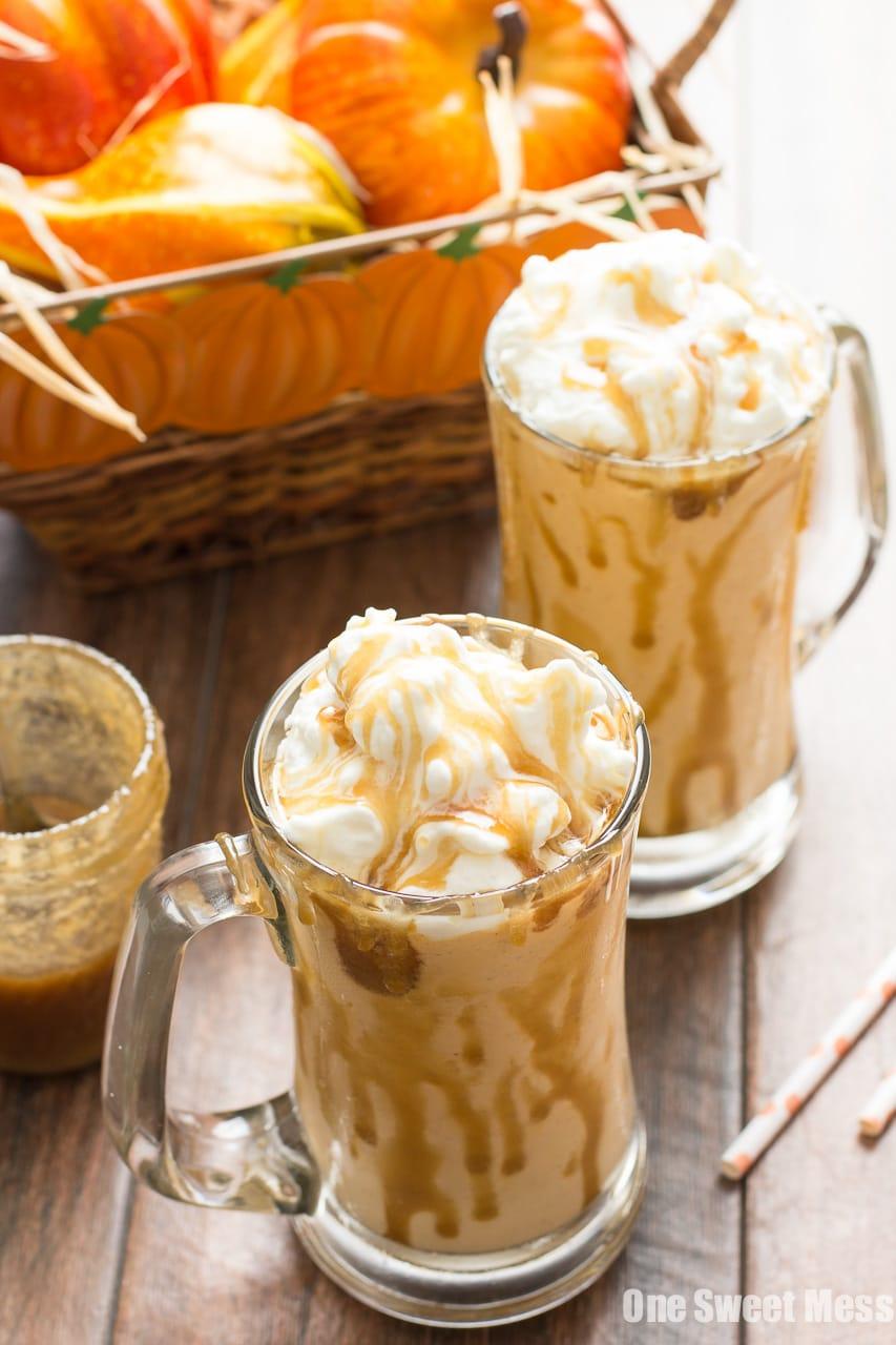 Fall Dessert Wallpaper Caramel Pumpkin Pie Milkshake One Sweet Mess